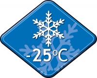 Комфортная температура до -25°C